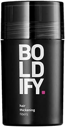 BOLDIFY Hair Fibers for Thinning Hair GREY Undetectable Natural 12gr Bottle Completely Conceals product image