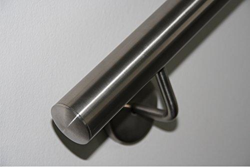 Corrimano in acciaio Inox V2A, 42,4 mm 240K lucido da parete, fino a 6 metri