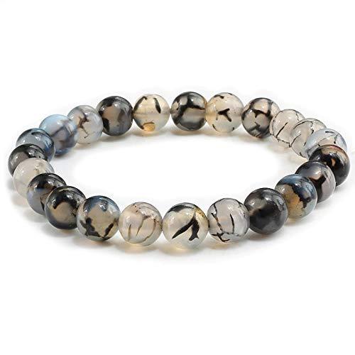 HANDMADE sold out Bracelet Black Dragon Easy-to-use Vein SELF- Gemstone Agate IMPROVE