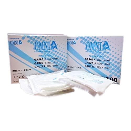 Gasas estériles esponjas de gasa gasas no tejidas para el cuidado de heridas suministros médicos de primeros auxilios 100 piezas