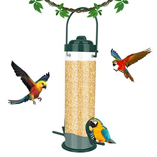 E-More Comedero Pájaros Silvestres, Plástico Ventana Comedero Colgante Comedero Aves Colgante para Exteriores Y Jardines