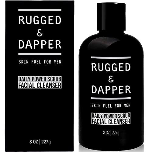 RUGGED & DAPPER Exfoliante y limpiador facial para hombres 237 ml