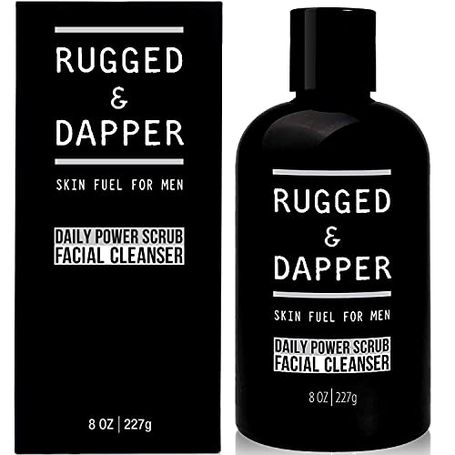 RUGGED & DAPPER Daily Power Scrub Face Wash + Exfoliating Facial Cleanser for...