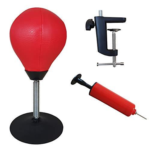 Boxsack für den Schreibtisch, Anti-Stress-Gadget zum Abbau von Stress zu Hause und am Arbeitsplatz. Stehende Boxbirne mit einem zusätzlichen Zubehörset. Hervorragende Geschenkidee.