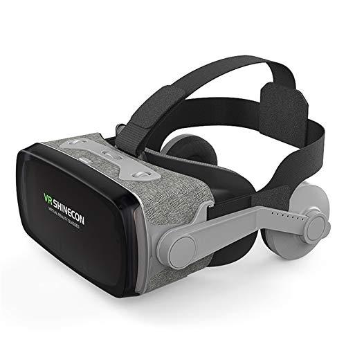 JDG Occhiali 3D Virtual Reality Glasss Auricolare E Maniglia in Bianco E Nero (Color : G07E 052 Handle)