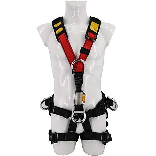 MYLW Imbracatura anticaduta,Dispositivi di Protezione Individuale Multifunzionali Imbracatura di Sicurezza Regolabile 5 Punti di Sicurezza anticaduta,