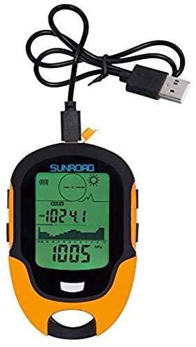 JXWANG Multifunción Barómetro Altímetro Brújula Termómetro Relojes-higrómetro LCD Digital Pronóstico del Tiempo Mano Hold IPX4 Linterna