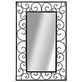 vidaXL Espejo de Pared 50x80 cm Negro Rectangular Decoración Hogar Vestidor
