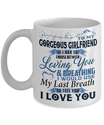 N\A Taza de café para Regalos de Novia: para mi Hermosa Novia si tuviera Que Elegir Novia, Regalos de cumpleaños para Novia, Regalos de Novio para una Novia