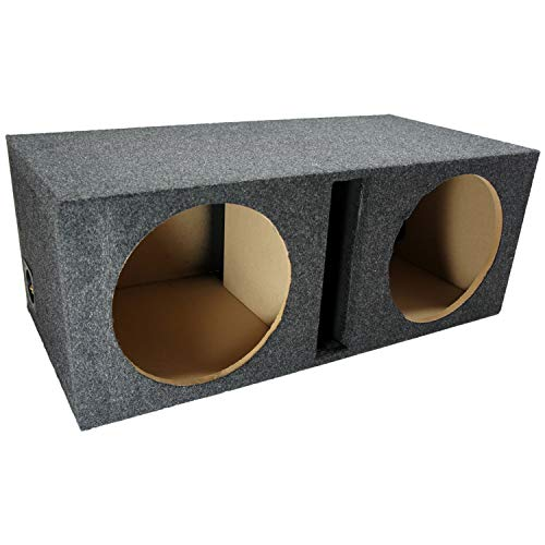 "Car Audio Dual 12"" Vented Subwoofer Stereo Sub Box Ported Enclosure 5/8"" MDF"