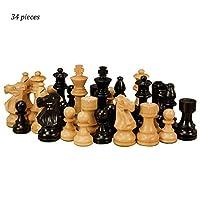 チェスセット ウッドチェスチェッカーズキッズ知的開発玩具クリエイティブベージュ&ブラウン木製チェスピースチェッカーズチェス インターナショナルチェス (Color : Beige+Brown)