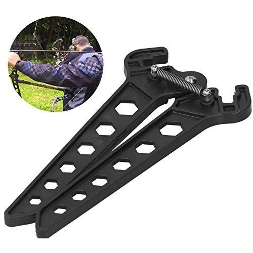 Yivibe Bogenständer, Bogenschießenständer Compound Portable Adjustable Lightweight mit Feder für Bögen zum Bogenschießen
