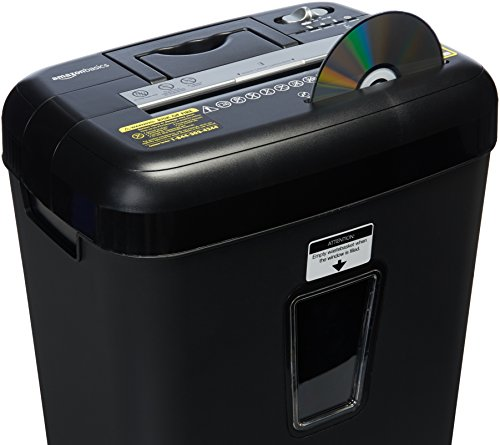 AmazonBasics 12 Sheet Cross-Cut Paper/CD/ Credit Card Shredder