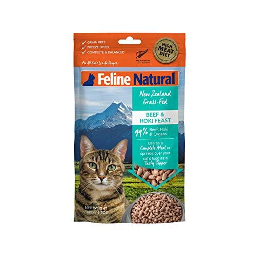 Feline Natural Grain-Free Freeze Dried Cat Food, Beef & Hoki 3.5oz