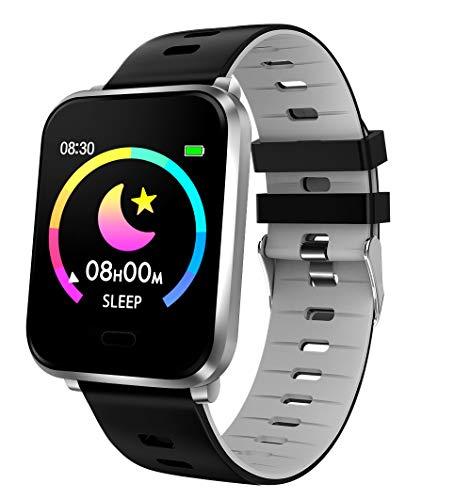 Fitnesstracker mit Herzfrequenz Puls Blutdruck Sauerstoff Schlaf Schritte Farbdisplay Smartwatch Armband Uhr - 9710/4