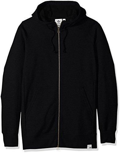 adidas Originals Sudadera con capucha para hombre con cremallera completa - negro - X-Large