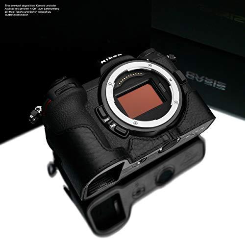 XS-CHZ6/7BK cameratas voor Nikon Z6 en Nikon Z7 full-size camera tas van Italiaans leer | Camera tas voor Nikon systeemcamera | Leren tas: Zwart | Gariz Design | XS-CHZ6/7BK