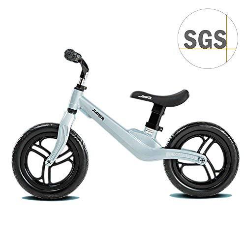 COEWSKE Bicicletta Senza Pedali da 12'per 2 3 4 Anni Balance Bike in Lega di Magnesio (Arthur Blu)