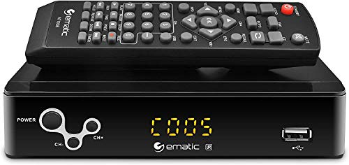 Digital Converter, Ematic Digital TV Converter Box with Recording, Playback, & Parental Controls (AT103C)