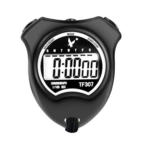 LEAP Professional Digital Sports Stopwatch Timer, Waterproof and Shockproof Stopwatch with Extra Large Number Display, Great for School Community or Personal, Track Field Events and Swim Events