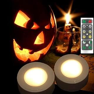 Set of 2 Halloween Pumpkin Lights with Remote/Timer. Orange Pumpkin Lights LED Battery Operated Halloween Decor.Halloween Jack.LED Battery Operated Halloween Decor Lantern Outdoor Pumpkin Decoration