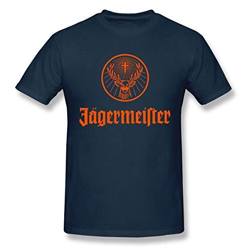 AWonder Maglietta da Esterno per Uomo di personalit¨¤ Casual Jagermeister con Logo Ispirato Cool Tee