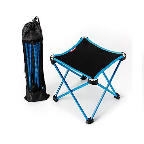 XIAOHE Portable Mini Petit Tabouret Pliant, Assise de Tabouret de Cadre extérieur léger, mobilier de Camping en Plein air pour la randonnée en Montagne + Étui de Transport,Blue