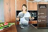 Chefarone Obstkorb zum Aufhängen - 130cm Küchenampel für mehr Platz auf Ihrer Arbeitsplatte - Obst Hängekorb Küche - Obstschale hängend (schwarz) - 8