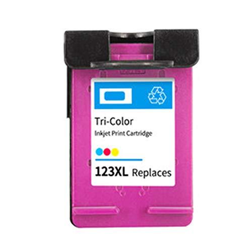 Cartucho de tinta 123XL, adecuado para HP OfficeJet 4655 1110 1111 1112 2130 Cartucho de tinta de impresora todo en uno, Chip Smart, 600 páginas color