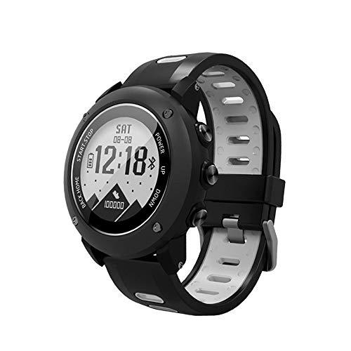 SoonCat GPS Watch for Men, Running Smart Watch All Black Military Men's Outdoor Sports Watch (Grey)