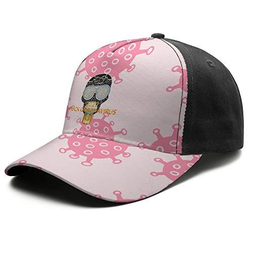Fuck Coro-navirus Printed Baseball Hat for Woman Snapback Sun Funny Classic Unisex Hats