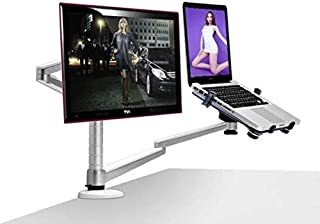 Table Full Motion OA-7X Multimedia Desktop Dual Arm 25 inch Monior Holder+ Laptop Holder Stand Dual Monitor Mount Arm Stan...