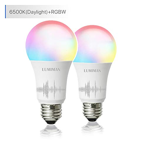 Smart WiFi Light Bulb, LED RGB Color Changing,...