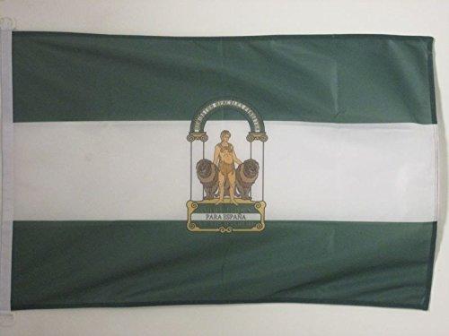 AZ FLAG Bandera de ANDALUCÍA 150x90cm Uso Exterior - Bandera ANDALUZA 90 x 150 cm Anillos