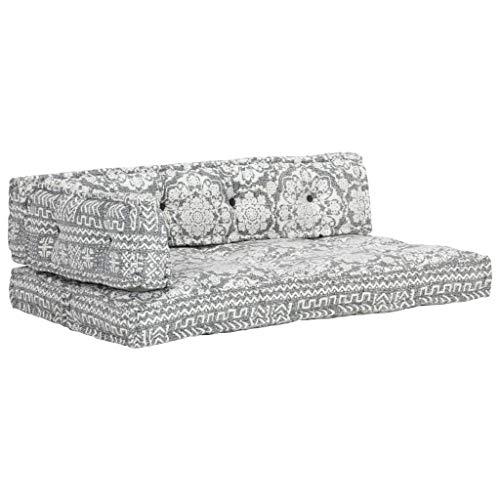 pedkit Cojin para palés Confort - Cojin de Asiento o Respaldo para sofás palets Cojín para sofá de palés Patchwork Tela Gris Claro