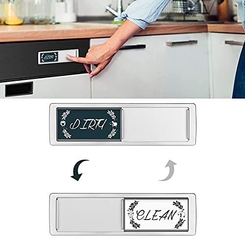 ImáN para Lavavajillas Indicador De SeñAl De Suciedad Limpia, ImáN para Refrigerador De Lavavajillas De Cocina Que No Raya, ImáN Universal De DiseñO MáS Nuevo con Pegatinas (B)