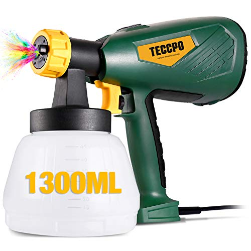 Paint Sprayer, TECCPO 600 Watts Up to 100DIN-s, High Power HVLP...