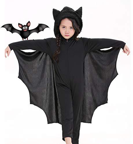 Seawhisper Fledermaus Kostüm Kinder Mädchen Junge Fledermauskostüm Vampir Fasching Karneval Faschingskostüme Karnevalskostüme Halloween 146