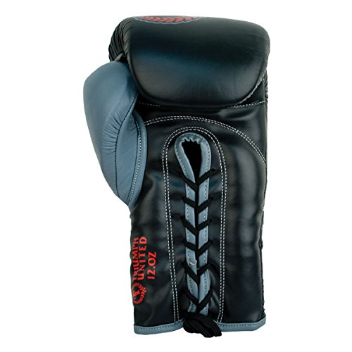 Death Star Lace Up Pro Boxing Glove Black 18-OZ
