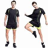 TANERDD Herren Fitness Basketball Kleidung Zweiteilige Leichtathletik-Sportbekleidung Quick Dry Training Wear Auf das Fitnessstudio anwenden,001,L