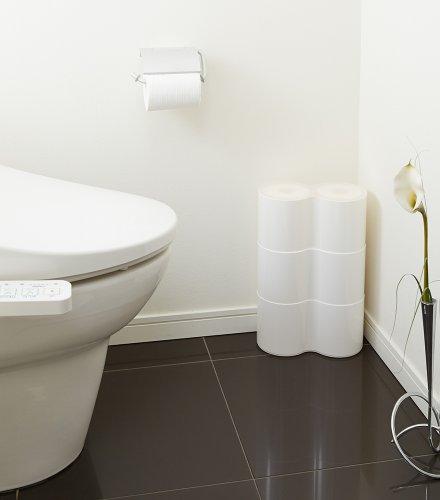 ISETO (伊勢藤) トイレ収納 ホワイト 約25×12.9×12.9cm