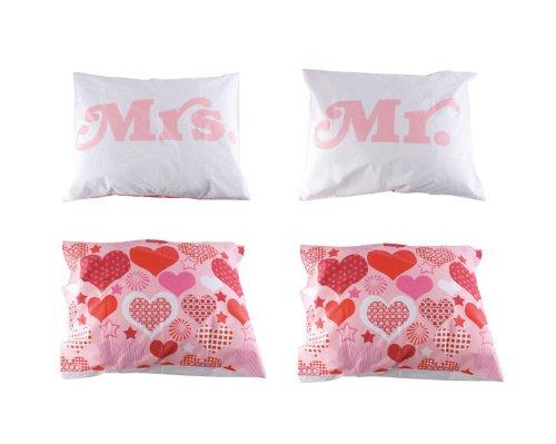 Fundas de almohada conjunto de 2 fundas de almohada para enamorados de señor y la señora de ballet corazón par de ropa de cama