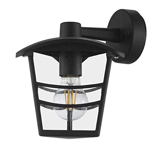 Preisvergleich Produktbild INSPIRE - Außenwandleuchte aus Aluminium PALAMA - Für E27-Glühlampe - IP44 - Schwarz