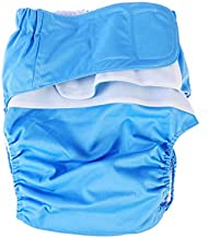 Healifty Washable underwear2pcs Adult Diapers Covers Reusable Incontinence Pants Cloth Diaper Wraps Washable Overnight Leakfree Underwear for Women Men Bariatric Seniors Patients (Sky Blue)