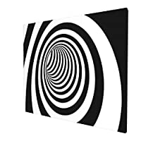 不規則 白黒の格子 3d (1) 新品 人気 縁のない装飾画 モダン絵画 高級簡約 モダンアート 装飾画 インテリア 絵 柔らか肌触り キャンバス絵画 ハイビジョン 写真 玄関に飾る 壁掛け 絵 (横版 50*60cm)
