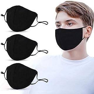 3 Pack Fashion Protective, Reusable Cotton Fabric, Unisex Black Dust Cotton, Washable