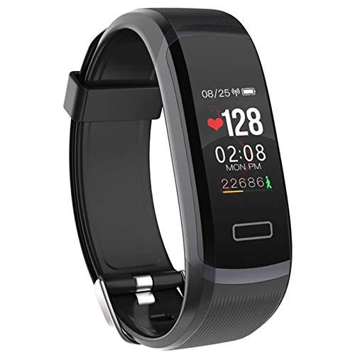 YDK Adecuado para iOS Android GT101 Pulseras Inteligentes para Hombres y Mujeres, monitoreo en Tiempo Real de la frecuencia cardíaca y el sueño, la Mejor Pareja de Fitness,A
