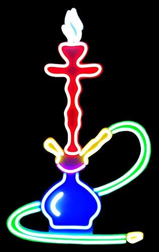 XXXL Shisha LED Reklame Werbung Leuchtwerbung Leuchtreklame Display Schild 90cm Shishabar Wasserpfeife Neon