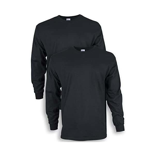 Gildan Men's Ultra Cotton Long Sleeve T-Shirt, Style G2400, 2-Pack