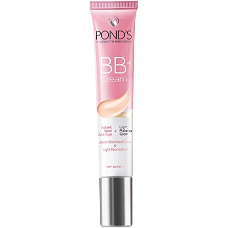 POND'S BB+ Cream, Instant Spot Coverage + Light make up Glow, Light, 18 g